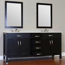Hudson 60 Double Contemporary Bathroom Vanity Set by Alya Bath