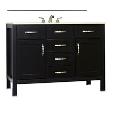 Hudson 48 Single Contemporary Bathroom Vanity Set by Alya Bath