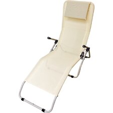 Textilne Sun Lounger with Cushion