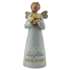 Love You Daughter Angel Figurine  by Blossom Bucket
