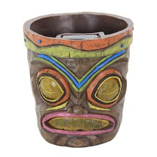 Solar Tiki Resin Pot Planter