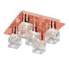 Ice Cube 5 Light Semi Flush Mount