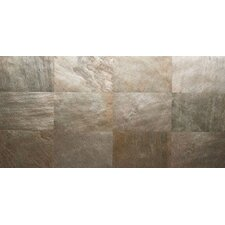 """Thin Flexible 16"""" x 24"""" Natural Stone Field Tile in Copper"""