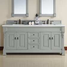 Brookfield 72 Double Urban Gray Bathroom Vanity Set by James Martin Furniture