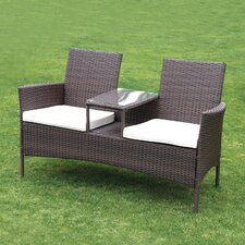 2 Seater Wicker Love Seat