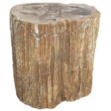 Kayden Petrified Wood Decorative Stool by Loon Peak