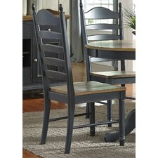 Bolton Ladder Back Solid Wood Dining Chair (Set of 2)