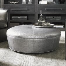 Claudia Leather Cocktail Ottoman by Lexington