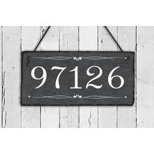 Personalized Slate Home 1-Line Wall Address Plaque