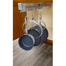 Kitchen Cabinet Pull Out Horizontal Pot Rack