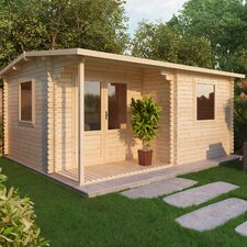 Home Office Executive 13 x 10 Ft. Log Cabin
