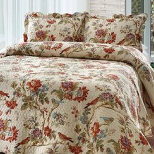 Finch Orchard 2 Piece Twin Reversible Quilt Set