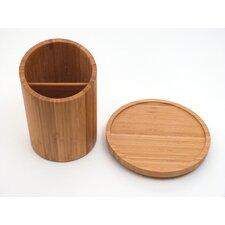 Bamboo Turntable Utensil Crock