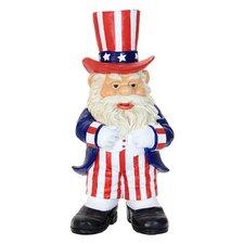 Uncle Sam Gnome Statue