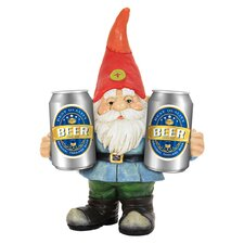 Gnome Holding Two Cans Statue