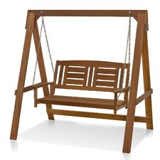 Juna Hardwood Hanging Porch Swing with Stand