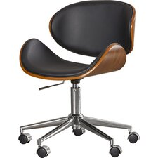 Urban Unity Quinn Mid-Back Leather Office Chair