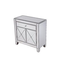 Contempo 1 Drawer 2 Door Accent Cabinet by Elegant Lighting