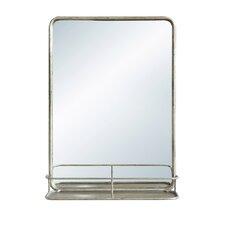 Waterside Metal Wall Mirror with Shelf