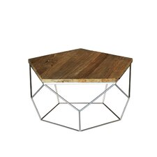 Pentagono Reclaimed Elm Wood Coffee Table