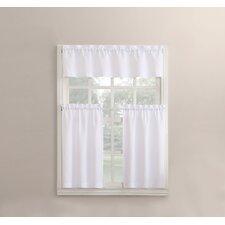 Martine Microfiber 3-Piece Kitchen Curtain Set