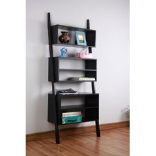 Wooden 72 Leaning Bookcase by Mintra
