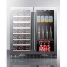 28 Bottle Dual Zone Convertible Wine Cooler