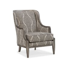 Merrick Exposed Wood Wingback Chair by Sam Moore