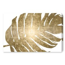'Tropical Leaves I' Graphic Art Print on Wrapped Canvas