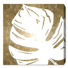 'Tropical Leaves Square III' Graphic Art Print on Wrapped Canvas