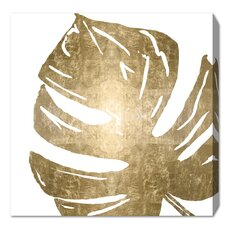 'Tropical Leaves Square I' Graphic Art Print on Wrapped Canvas