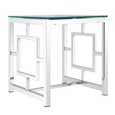 Rhoads Stainless Steel End Table by Mercer41™