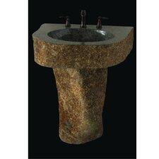 Earthen Fantasy Mountainous Boulder 36 Pedestal Bathroom Sink by Quiescence