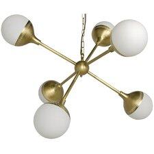 Zoe Sputnik Metal 6-Light Sputnik Chandelier