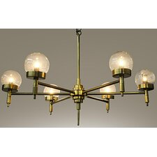 Leslie Metal 6-Light Sputnik Chandelier