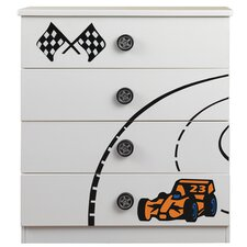 Sonic Racer 4 Drawer Chest of Drawers