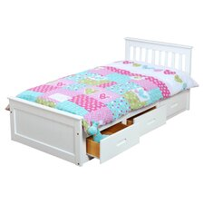Single Cabin Bed Frame with Storage