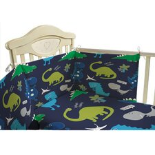 Dino in the Dark 3 Piece Cot Bedding Set