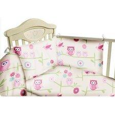 Owls 3 Piece Cot Bedding Set