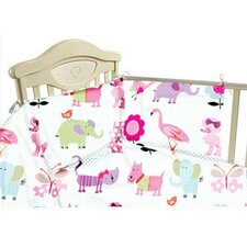 Cute Pets 3 Piece Cot Bedding Set