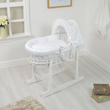 Dimple on Wicker Moses Basket with Stand