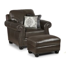 Mariela Club Chair and Ottoman by Darby Home Co