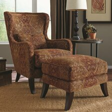 Darian Wing Armchair and Ottoman by World Menagerie