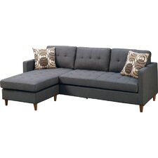quick view mendosia reversible sectional - Deep Sectional Sofa