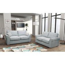 Metinaro 2 Piece Formal Back Sofa and Loveseat Set