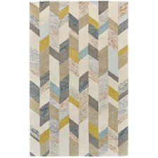 Christine Hand-Tufted Gray/Gold Area Rug