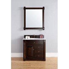 "New Haven 36"" Double Burnished Mahogany Bathroom Vanity Set"