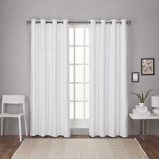 Molly Solid Thermal Grommet Curtain Panels (Set of 2)