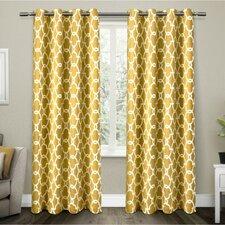 Rainville Gates Room Darkening Geometric Blackout Thermal Grommet Curtain Panel (Set of 2)