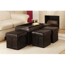 Marla 5 Piece Bench with Storage & Side Ottoman Set by Zipcode Design